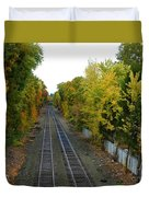 Autumn Along The Tracks Duvet Cover