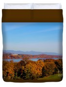 Autumn And The Hudson River Duvet Cover