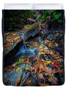 Autumn At A Mountain Stream Duvet Cover by Rick Berk