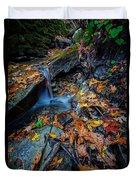 Autumn At A Mountain Stream Duvet Cover