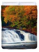 Autumn At Buttermilk Falls Duvet Cover