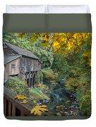 Autumn At Cedar Creek Grist Mill Duvet Cover