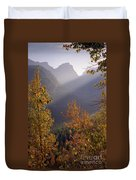 Autumn At Logan Pass Duvet Cover