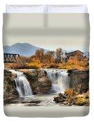 Autumn At Lundbreck Falls Provincial Park Duvet Cover