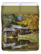 Autumn At Mabry Mill Duvet Cover