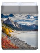 Autumn At Medicine Lake Duvet Cover