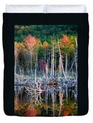 Autumn At Moosehead Bog Duvet Cover