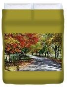 Autumn At Oatlands Lane Duvet Cover