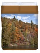Autumn At Pink Lake Duvet Cover