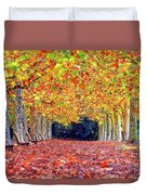 Autumn At Shinjuku Park Duvet Cover