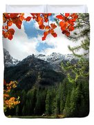 Autumn At String Lake Duvet Cover