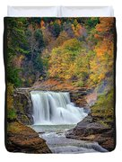 Autumn At The Lower Falls Duvet Cover