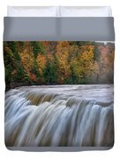 Autumn At The Middle Falls  Duvet Cover