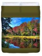 Autumn At The Pond Duvet Cover