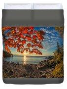 Autumn Bay Near Shovel Point Duvet Cover