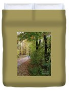 Autumn Bicycling Vertical One Duvet Cover