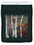 Autumn Birch Duvet Cover