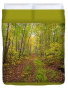Autumn Birch Woods Duvet Cover
