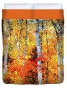 Autumn Birches Duvet Cover