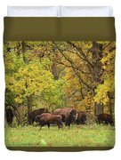 Autumn Bison Duvet Cover
