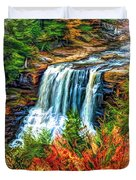 Autumn Blackwater Falls - Paint 3 Duvet Cover