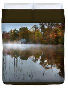 Autumn Boathouse Duvet Cover