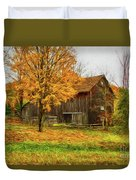 Autumn Catskill Barn Duvet Cover