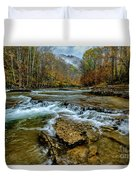 Autumn Cherry Falls Elk River Duvet Cover