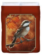 Autumn Chickadee Duvet Cover by Crista Forest