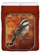 Autumn Chickadee Duvet Cover