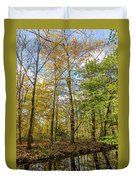 Autumn Color Reflections Duvet Cover