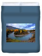 Autumn Colors Along Tanzilla River In Northern British Columbia Duvet Cover