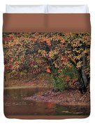 Autumn Colors By The Pond Duvet Cover