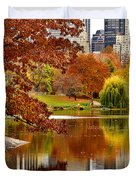 Autumn Colors In Central Park New York City Duvet Cover