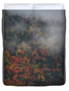 Autumn Colors In The Clouds Duvet Cover