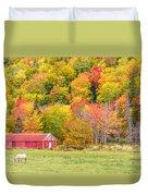 Autumn Colors Near Lake Ainslie  Duvet Cover