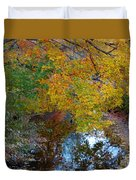 Autumn Colors Of Reflection Duvet Cover