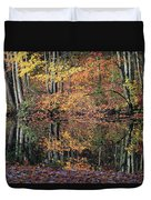 Autumn Colors Reflect Duvet Cover