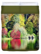 Autumn Colours By The Lake Duvet Cover