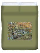 Autumn Comes To The Unami Creek Duvet Cover