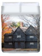 Autumn Comes To The Witch House Duvet Cover