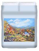 Autumn Cottage Duvet Cover