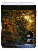 Autumn Country Bridge Duvet Cover