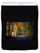 Autumn Country Lane Duvet Cover