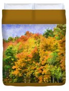 Autumn Country On A Hillside II - Digital Paint Duvet Cover