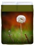 Autumn Dandelion Duvet Cover