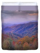 Autumn Deciduous Forest Great Smoky Duvet Cover