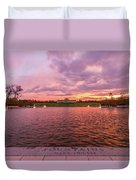 Autumn Evening At Forest Parks Grand Basin Duvet Cover