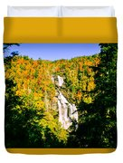 Autumn Falls Duvet Cover by Tom Zukauskas