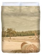 Autumn Farming And Agriculture Landscape Duvet Cover